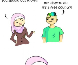 hijab, respect, and islam image