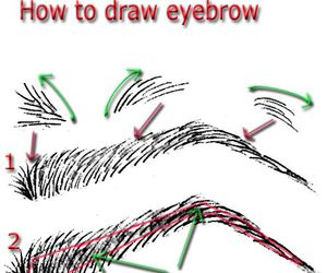 drawing, draw, and eyebrows image