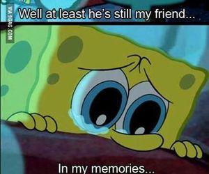 friends, memories, and spongebob image