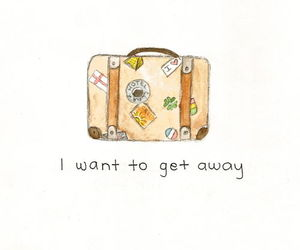travel, away, and get away image