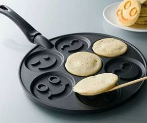 pancakes, food, and smile image