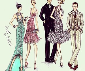 croqui, fashion, and the great gatsby image
