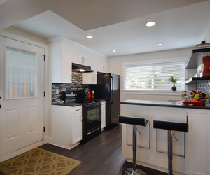 kitchen, modern furniture, and white color image