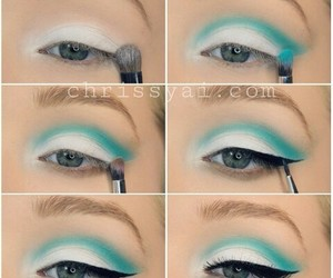 beauty, blue, and makeup image