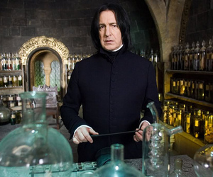 harry potter, alan rickman, and snape image