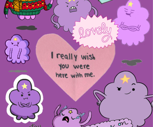Collage, purple, and adventure time image