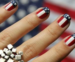 nails, usa, and blue image