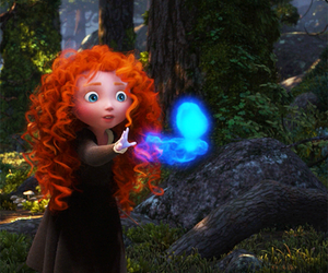 brave, disney, and redhead image