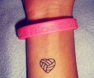 tattoo, volleyball, and heart image