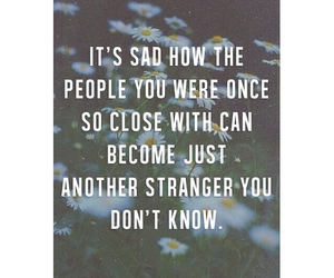 strangers, quote, and sad image