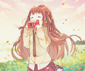 anime, anime girl, and camera image