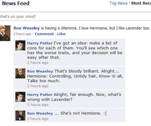 comments, ron weasley, and cons image