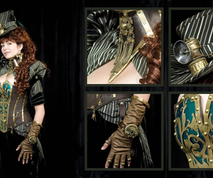 steampunk and woman image