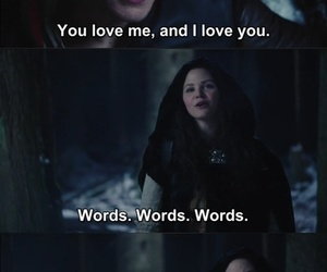 once upon a time, snow white, and words image