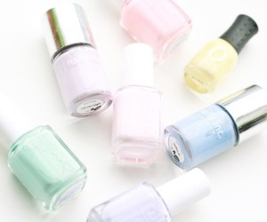 beauty, nails, and pastel image