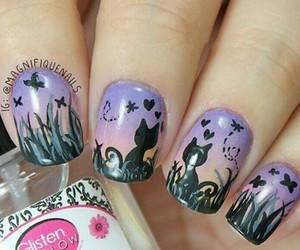 fashion, kitty, and nail art image