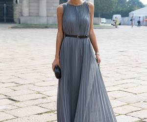 dress, style, and grey image