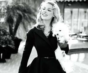 dress, katherine heigl, and black and white image