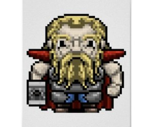 hammer, pixel art, and thor image