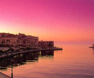 Greece, pink, and sea image