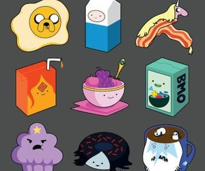 adventure time, breakfast, and food image