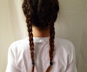 two, hair, and french braids image