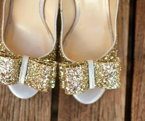 shoes, bow, and bride image