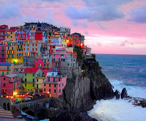 beach, colours, and italie image