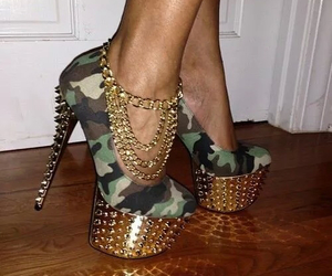 accessoires, army, and fashion image