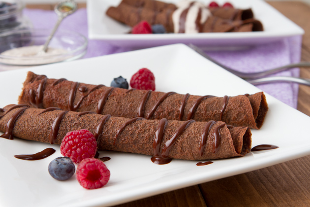 Coconut Flour Chocolate Crepes (Paleo) | Healthful Pursuit