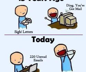funny, Letter, and email image