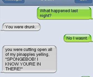 funny, spongebob, and drunk image