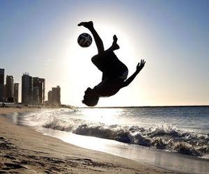 football, beach, and boy image