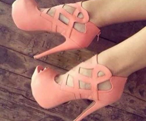 apricot, high heels, and pretty image