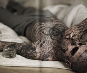 rick genest, tattoo, and zombie boy image