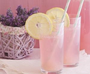 drink and pink lemonade image