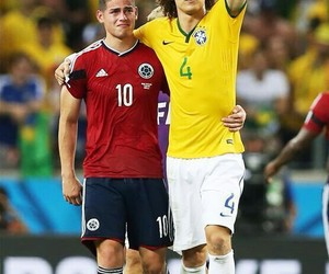 david luiz, colombia, and james rodriguez image