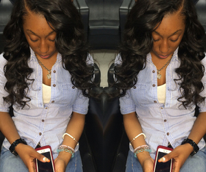 hairstyles, pretty, and weave image