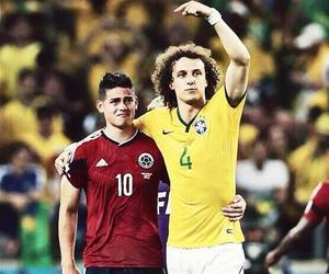 brazil, colombia, and david luiz image