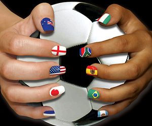 nails, football, and flag image
