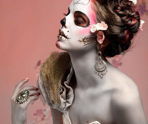 beauty, dia de los muertos, and hair image