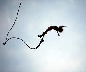 free, jump, and sky image