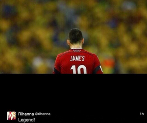 legend, rihanna, and james rodriguez image