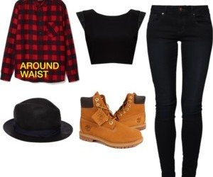 crop, hat, and outfit image