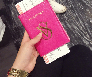 girly, pink, and travel image