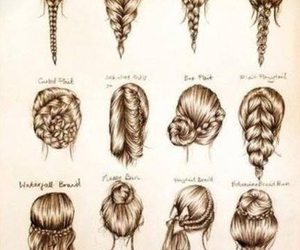 art, hairstyles, and braids image