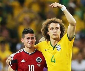 colombia, james rodriguez, and david luiz image