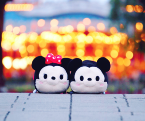 disney, minnie, and mickey mouse image
