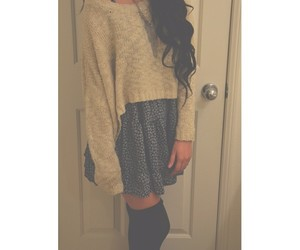 outfit, sweater, and fall image
