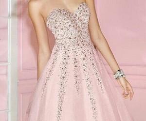 pink glitter dress cute image